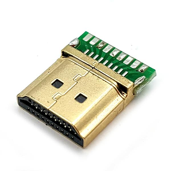 HDMI 커넥터 (수) HDMI PCB board solder connector plug M [TDB-15]