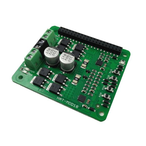 10Amp 6V-24V DC Motor Driver HAT for RPI (2 Channels)