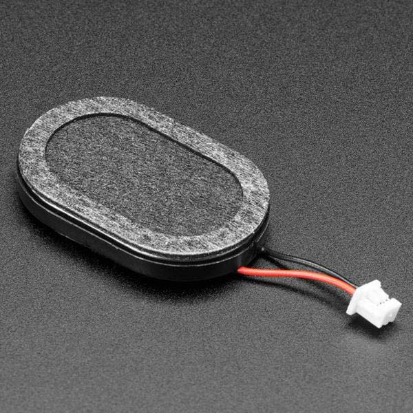Mini Oval Speaker with Short Wires - 8 Ohm 1 Watt [ada-4227]