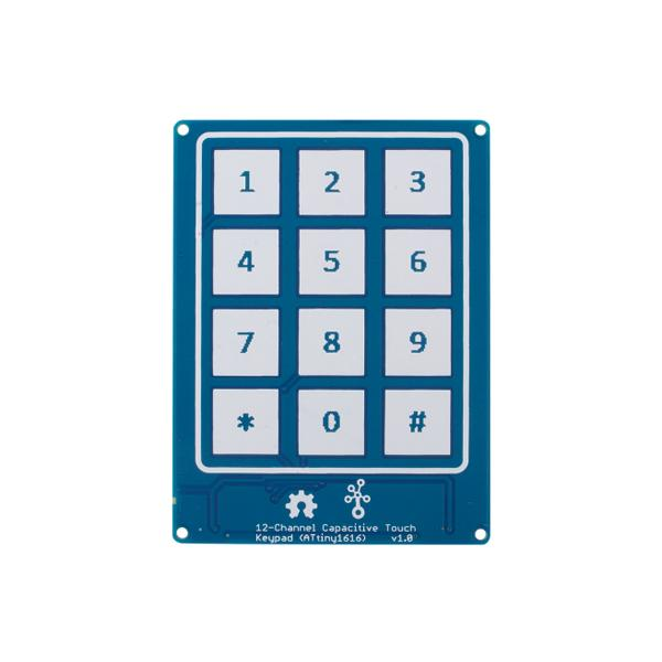 Grove - 12-Channel Capacitive Touch Keypad (ATtiny1616) [NT101020636]