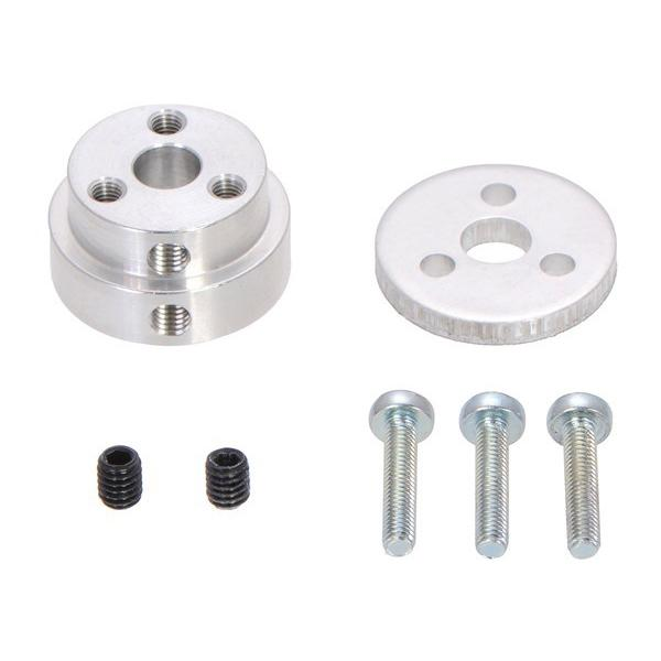 Pololu Aluminum Scooter Wheel Adapter for 1/4″ Shaft #2675