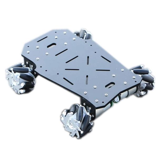 The chassis base with a smart DIY 4WD RC robot car mecca titanium wheel