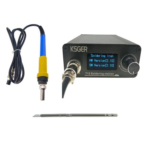 V2.1S digital temperature controller T12 soldering station electric soldering iron tip T12-K + 907 handle