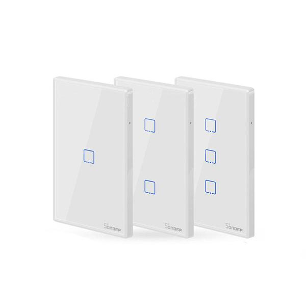 SONOFF® T2 EU / US / UK AC 100-240V 1/2/3 Gang TX Series Smart RF 433Mhz WIFI wall switch touch wall switch (Alexa Google Home Use) - US 3Gang