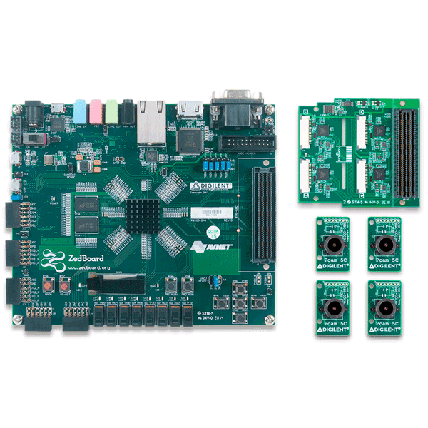 ZedBoard Advanced Image Processing Kit (Quad Pcam Version)