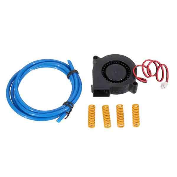12V DC 5015 Blower Cooling Fan with 2*4mm PTEF Tube & 4pcs 8*25 Hot Bed Spring Kit for 3D Printer Part