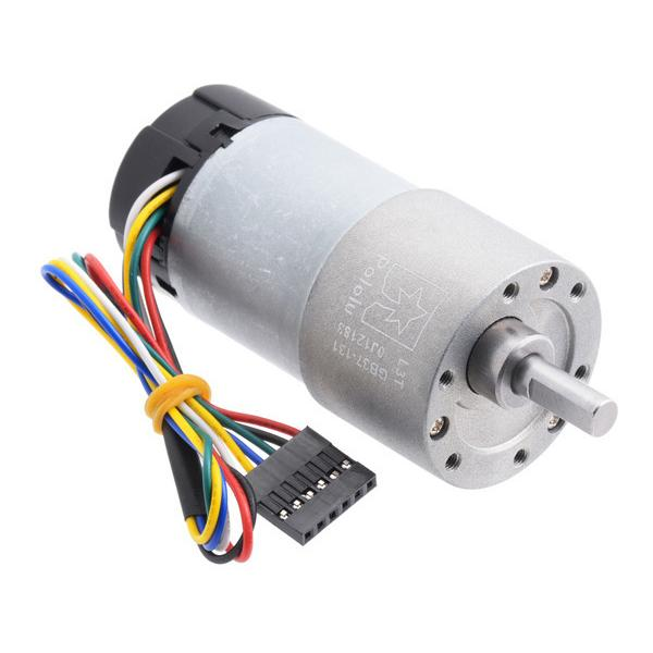 131:1 Metal Gearmotor 37Dx73L mm with 64 CPR Encoder (Helical Pinion) #4756