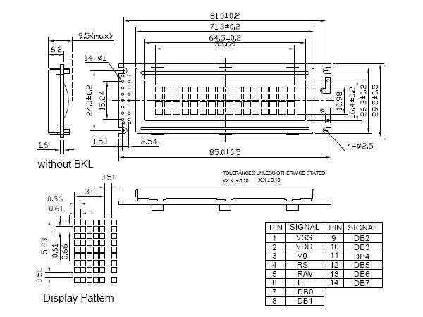 16x2 Character LCD (Parallel Interface) / 디바이스마트