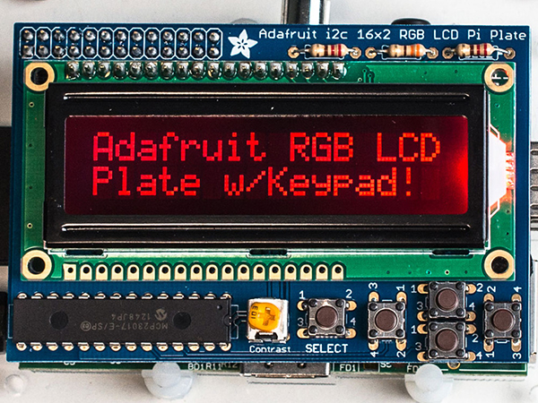 Adafruit RGB Negative 16x2 LCD+Keypad Kit for Raspberry Pi [ada-1110]