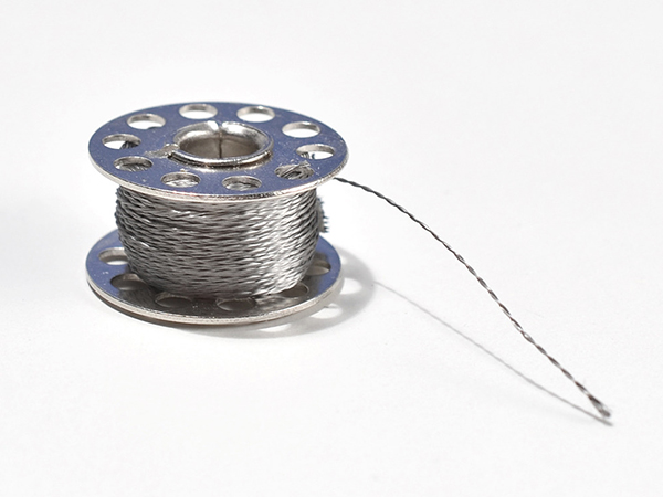 Stainless Thin Conductive Thread - 2 ply - 23 meter/76 ft [ada-640]
