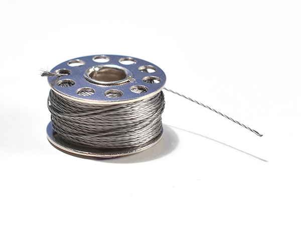 Stainless Medium Conductive Thread - 3 ply - 18 meter/60 ft [ada-641]