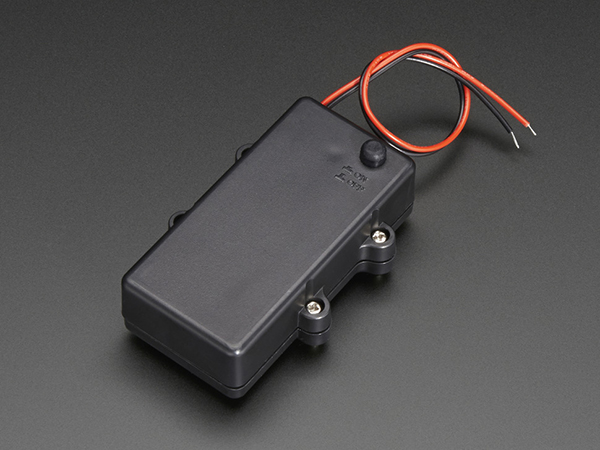 Waterproof 2xAA Battery Holder with On/Off Switch [ada-770]