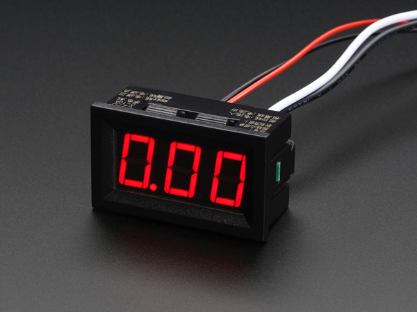 Panel Current Meter - 0 to 9.99A [ada-574]