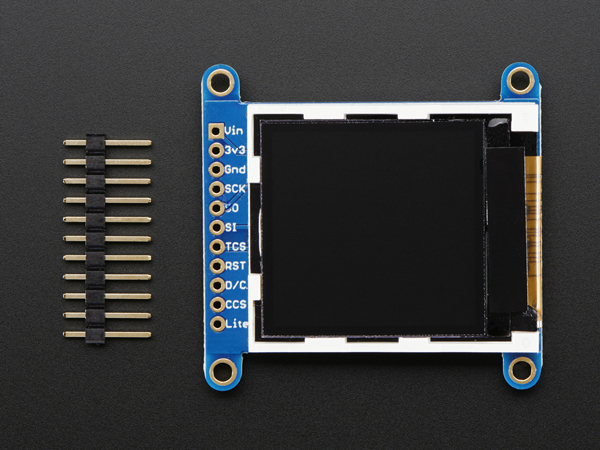Adafruit 1.44' Color TFT LCD Display with MicroSD Card breakout - ST7735R [ada-2088]