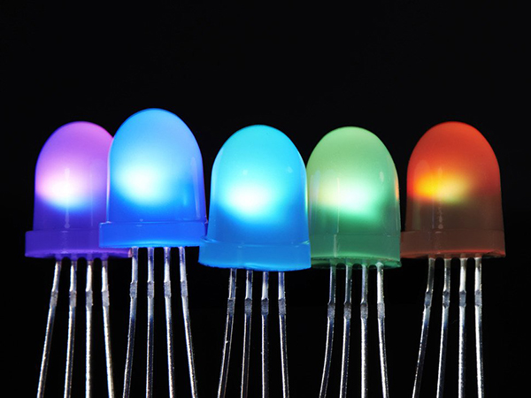 NeoPixel Diffused 8mm Through-Hole LED - 5 Pack [ada-1734]