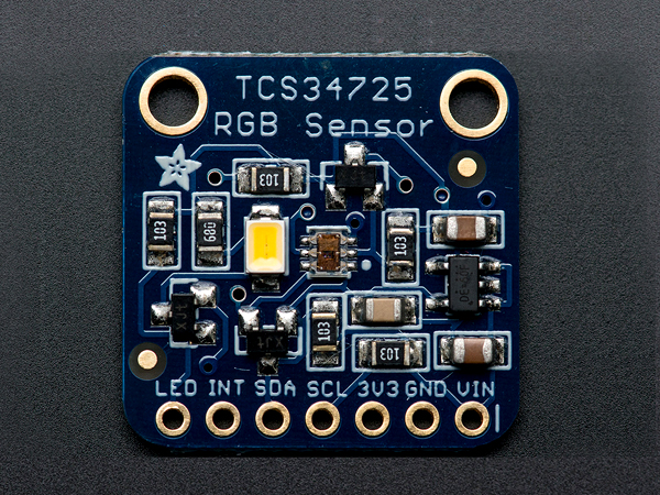 RGB Color Sensor with IR filter and White LED - TCS34725 [ada-1334]