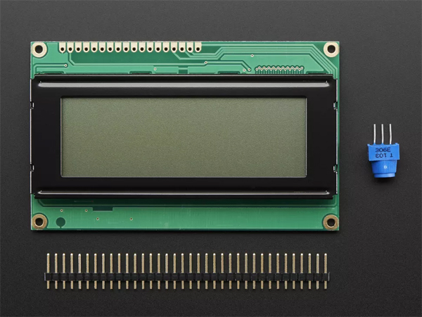 RGB backlight positive LCD 20x4 + extras - black on RGB [ada
