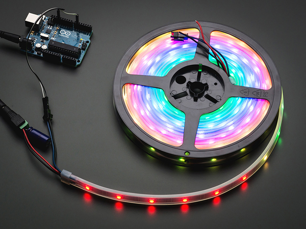 Adafruit NeoPixel Digital RGB LED Strip - Black 30 LED - BLACK [ada-1460]