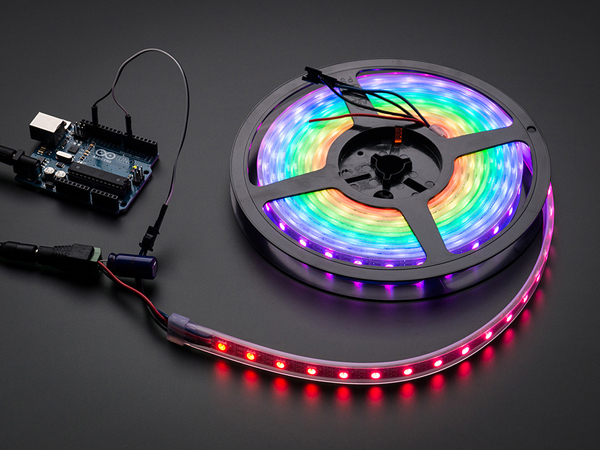 Adafruit NeoPixel Digital RGB LED Strip - Black 60 LED - BLACK [ada-1461]