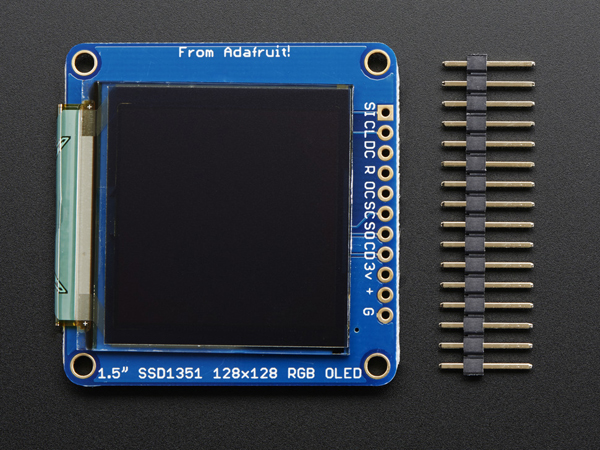 OLED Breakout Board - 16-bit Color 1.5' w/microSD holder [ada-1431]