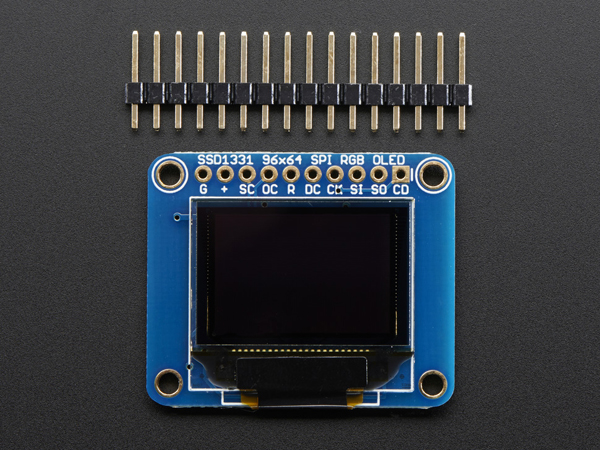 OLED Breakout Board - 16-bit Color 0.96 inch w/microSD holder [ada-684]