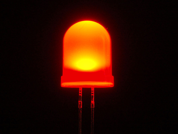 Diffused Red 10mm LED (25 pack) [ada-845]