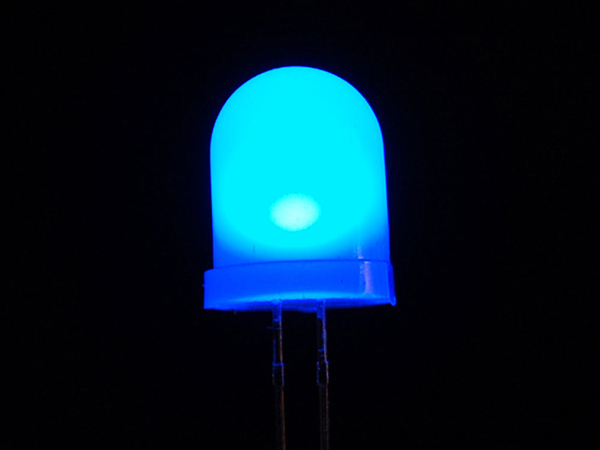 Diffused Blue 10mm LED (25 pack) [ada-847]