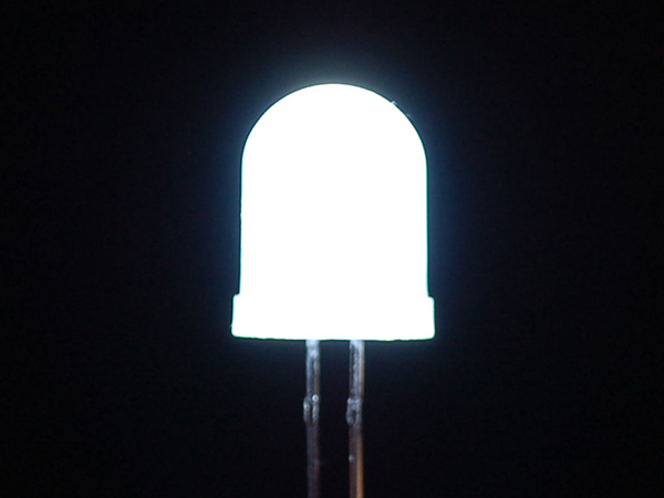 Diffused White 10mm LED (25 pack) [ada-846]