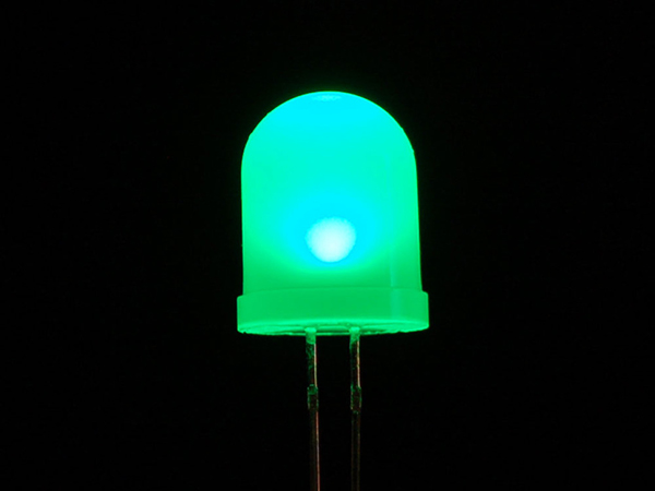 Diffused Green 10mm LED (25 pack) [ada-844]