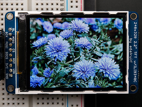 2.2' 18-bit color TFT LCD display with microSD card breakout [ada-1480]