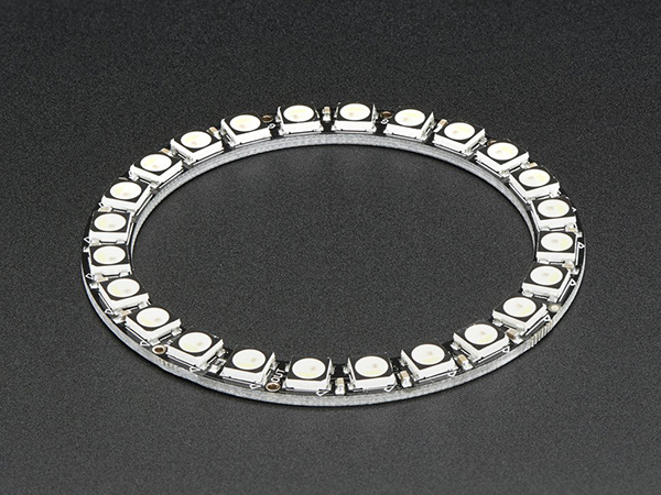NeoPixel Ring - 24 x 5050 RGBW LEDs w/ Integrated Drivers - Warm White - ~3000K [ada-2861]