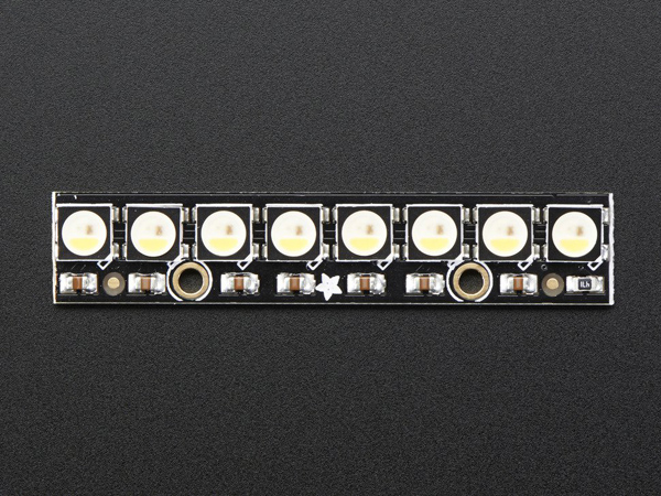 NeoPixel Stick - 8 x 5050 RGBW LEDs - Natural White - ~4500K [ada-2868]