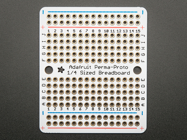 Adafruit Perma-Proto Quarter-sized Breadboard PCB - Single [ada-1608]