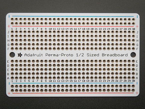Adafruit Perma-Proto Half-sized Breadboard PCB - Single [ada-1609]