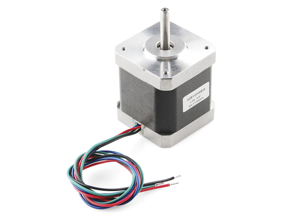 스테핑 모터, Stepper Motor - 68 oz.in (400 steps/rev) [ROB-10846]