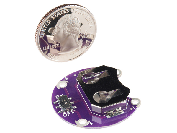 릴리패드 배터리 홀더 LilyPad Coin Cell Battery Holder - Switched - 20mm [DEV-13883]