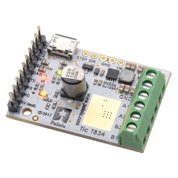 Tic T834 USB Multi-Interface Stepper Motor Controller (Connectors Soldered) #3132