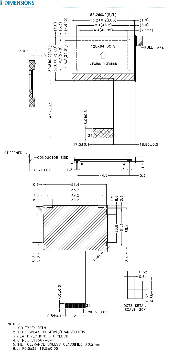 Pe12864wrf 055 H Q Audiodriven Xenon Tube Flash Circuit Diagram Tradeofic Note For Detailed Information Please Refer To Lcm Drawing