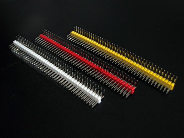 컬러 핀헤더 Dual 2x40Pin Rightangle(2.54mm)