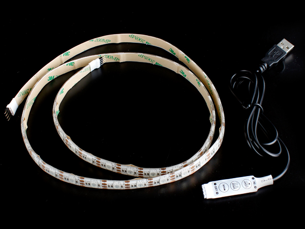 5V USB Control 5050 RGB Flexible 에폭시 코팅 LED Strip 1M/60LED [SZH-LD311]
