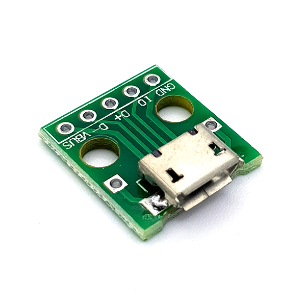 MicroUSB-5P to 2.54mm DIP Adapter Board [SZH-EP117]