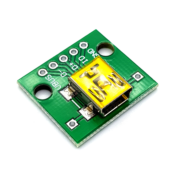 MiniUSB-5P to 2.54mm DIP Adapter Board [SZH-EP118]