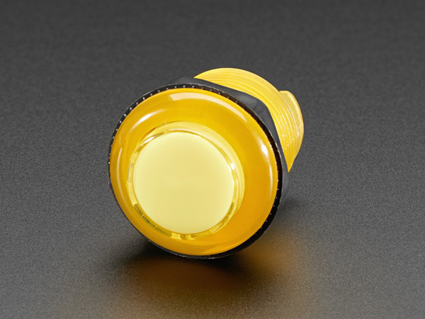 Arcade Button with LED - 30mm Translucent Yellow [ada-3488]