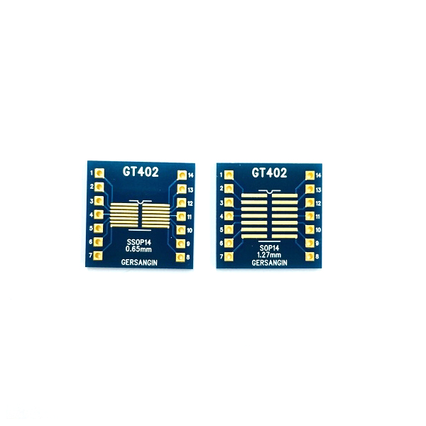 [GT 402] SSOP-14-0.65mm, SOP-14-1.27mm  Double adapter 변환기판 pcb adapter TSSOP SO