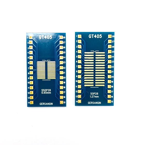 [GT 405] SSOP-28-0.65mm, SOP-28-1.27mm  Double adapter 변환기판 pcb adapter TSSOP SO