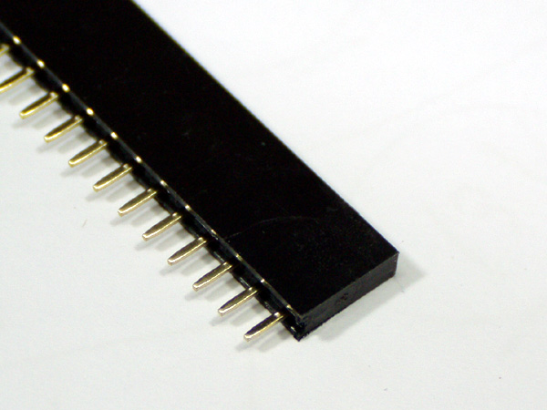 핀헤더소켓 Single 1x20 Straight(2.54mm)