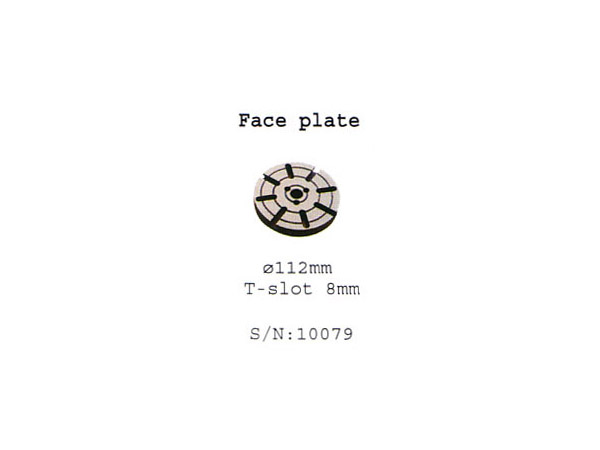 (10079)face plate