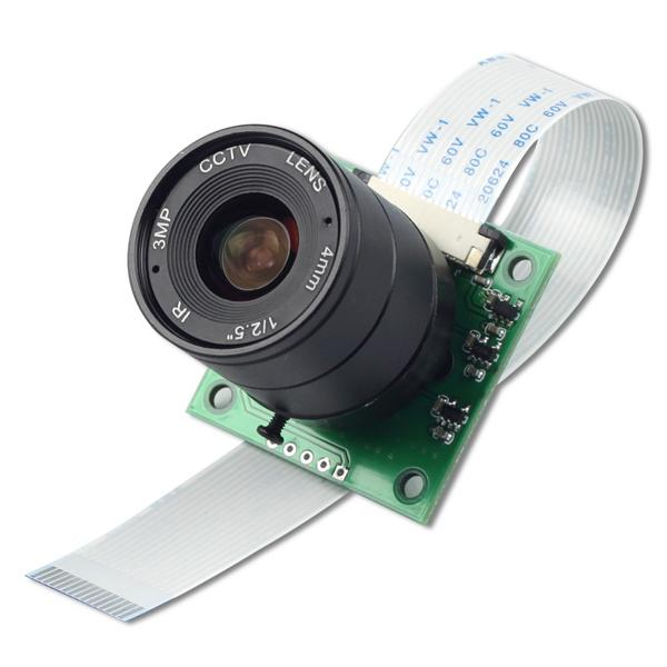 라즈베리파이 5MP OV5647 CS Mount LS-2718 Lens Camera Module [B0032]