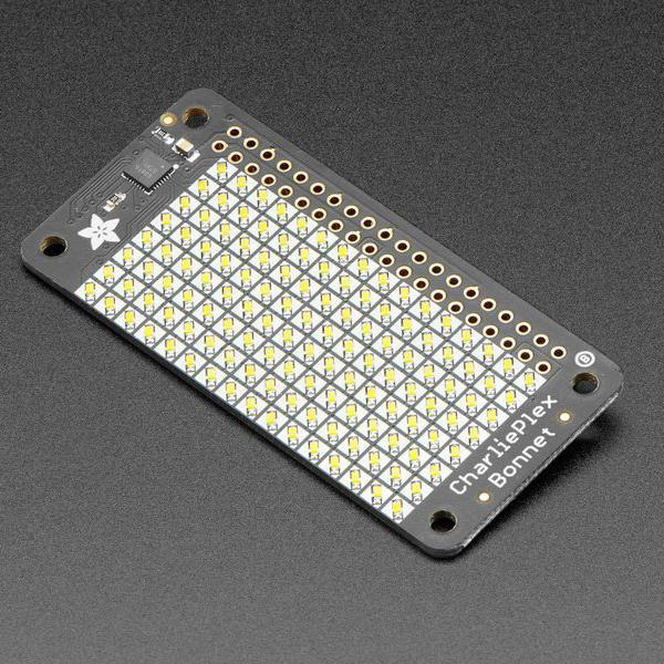 Adafruit CharliePlex LED Matrix Bonnet - 8x16 LEDs [ada-3467]