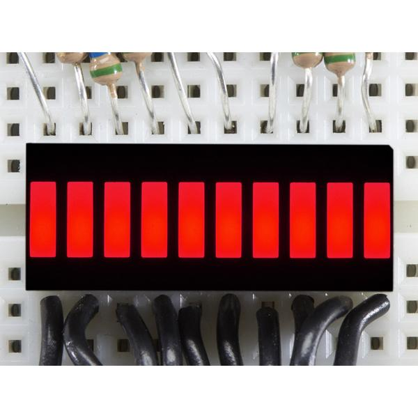 10 Segment Light Bar Graph LED Display - Red [ada-1921]